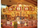 An indoor merry-go-round is one of the plaza's special features