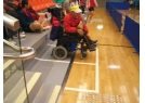 Wheelchair spectator area is provided in the Lai Chi Kok Park Sports Centre