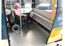 Seats inside the cabin can be folded up providing more spaces to accommodate wheelchairs.